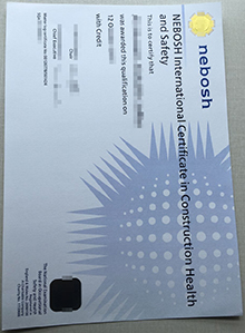 Fake NEBOSH International Certificate in Construction Health and Safety certificate