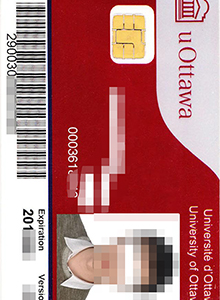 student card of University of Ottawa,buy fake diploma andtranscript in CAD