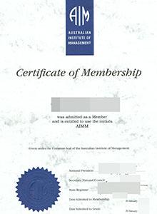 Australian Institute of Management certificate, buy fake AIM certificate