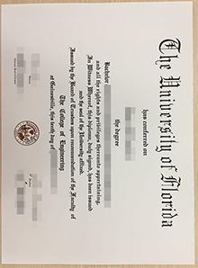 Buy novelty UF degree, UFL false diploma certificate U.S.