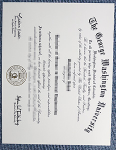 George Washington University degree, George Washington University diploma