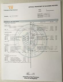 USF official transcript of academic record, buy real University of San Francisco transcript