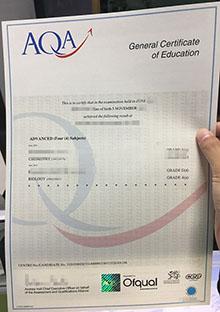 Buy real AQA certificate, make a replica AQA certificate