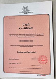 Apprenticeship and Traineeship Craft certificate, buy fake Craft certiifcate