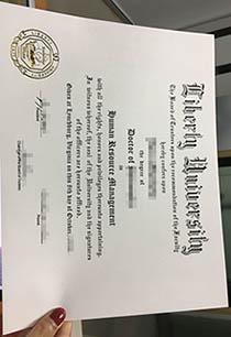Fake Liberty University certificate, counterfeit Liberty University degree certificate