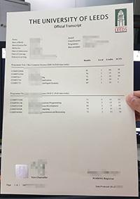 Counterfeit University of Leeds official transcript, buy Leeds Uni marksheets