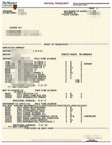 Fake McMaster transcript supplier, buy fake Mac academic record