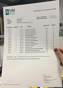 SIM Global Education transcript of academic record, buy SIM transcript