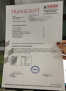 MDIS transcript fake, buy a copy of MDIS official transcript Singapore