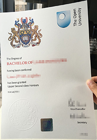 The Open University degree certificate