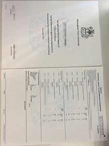 NTU degree and transcript, Counterfeit Nottingham Trent University (NTU) degree and transcript