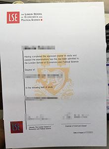 LSE replica diploma, buy fake LSE certificate