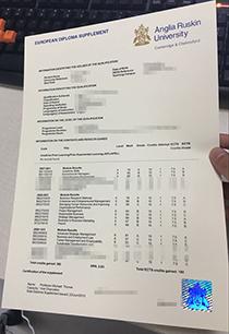 Anglia Ruskin University official transcript, buy fake ARU mark list