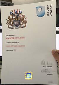 Open University degree certificate, Open University diploma template