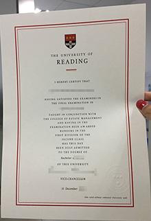 University of Reading diploma image, buy fake UK degrees