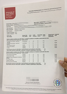 Buy fake University of South Wales transcript, South Wales final record replica