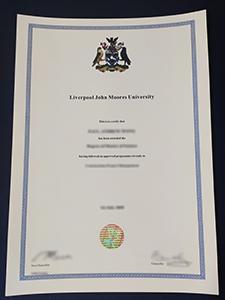 Liverpool John Moores University certificate, buy fake LJMU degree certificate online