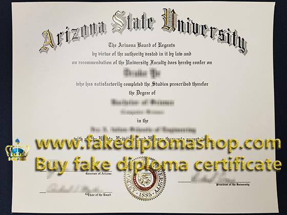 Fake ASU degree
