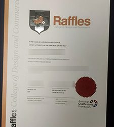 Fake RCDC degree, Buy a fake Raffles College of Design and Commerce degree certificate online