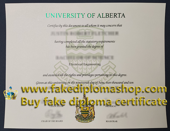 University of Alberta degree