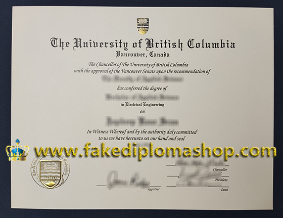 UBC degree, University of British Columbia degree of Bachelor of Applied Science