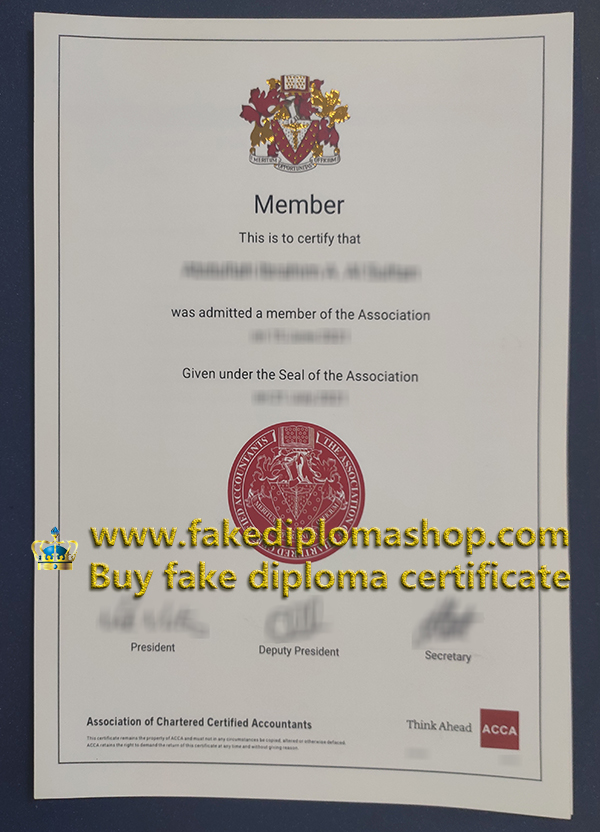 ACCA certificate 2021 edition