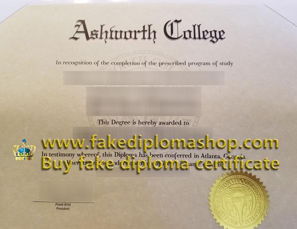 Ashworth College degree