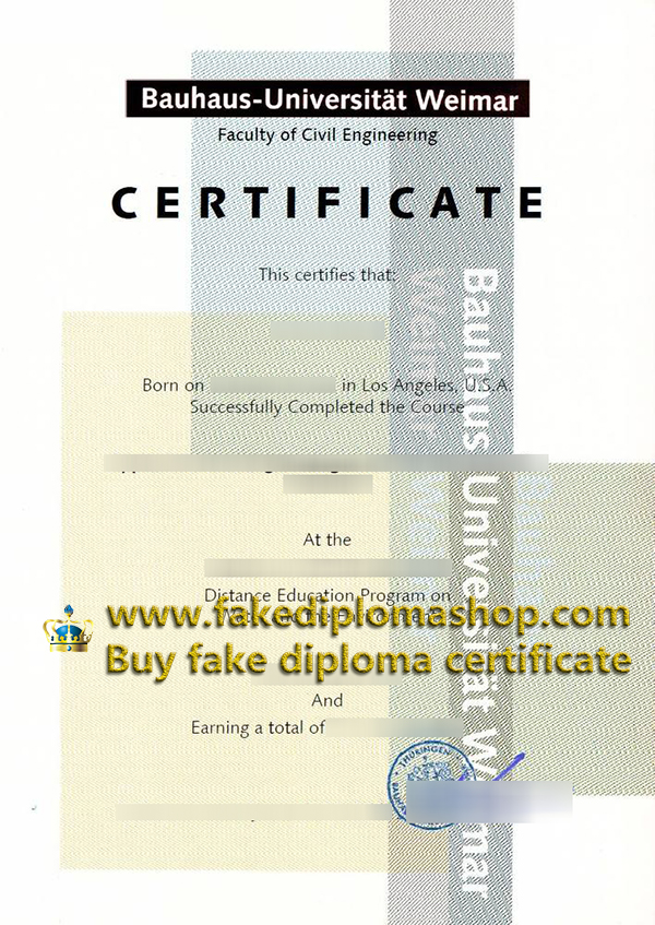 Bauhaus-Universität Weimar certificate