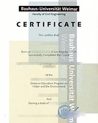 Bauhaus-Universität Weimar certificate, Order a fake Bauhaus-Universität Weimar diploma