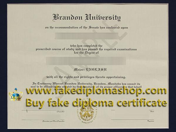 Brandon University degree