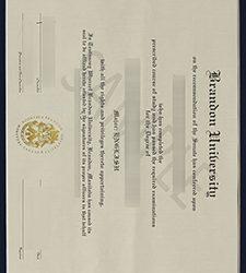 Brandon University degree, Get a fake Brandon University diploma and transcript online
