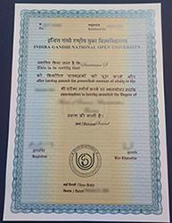 Phony IGNOU diploma, Order a fake Indira Gandhi National Open University diploma online