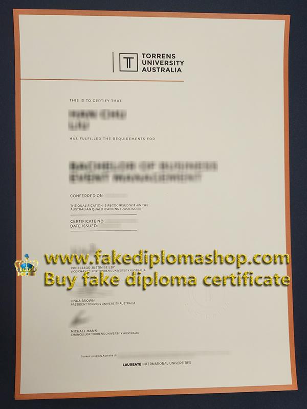 Torrens University Australia certificate